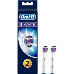 Oral B- 3D White Ανταλλακτικά Βουρτσάκια (2τμχ)