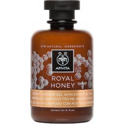 APIVITA Κρεμώδες Aφρόλουτρο με Aιθέρια Έλαια Royal Honey 250ml