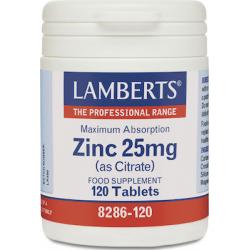 Lamberts Zinc 25mg (Citrate) 120 ταμπλέτες