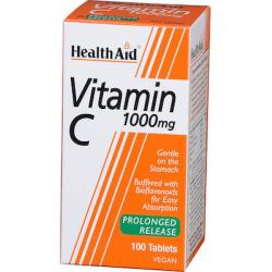 Health Aid Vitamin C 1000mg Prolonged Release 100 φυτικές κάψουλες