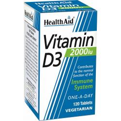 Health Aid Vitamin D3 2000iu 120 φυτικές κάψουλες