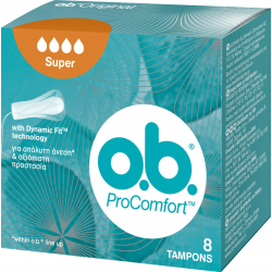 O.B. ProComfort Curved Grooves Super για Αυξημένη Ροή 8τμχ