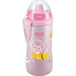 Nuk First Choice Junior Cup 36m+ Παγουράκι με Καπάκι Push-Pull Ροζ 300ml