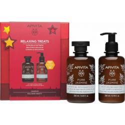Apivita Relaxing Treats Pure Jasmine Αφρόλουτρο 250ml & Γαλάκτωμα Σώματος 200ml