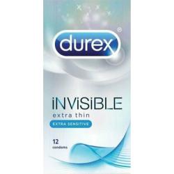 Durex Invisible Extra Sensitive Εξαιρετικά Λεπτά 12τμχ