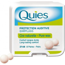 Quies Pure Wax Ωτοασπίδες Κεριού 8 ζευγάρια σε Λευκό Χρώμα