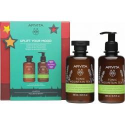 Apivita Uplift Your Mood Tonic Mountain Tea Set