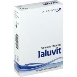 Alfa Intes Ialuvit Οφθαλμικές Σταγόνες 15x0.6ml