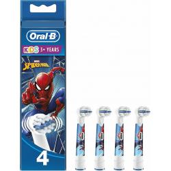 Oral-B Ανταλλακτικό για Ηλεκτρική Οδοντόβουρτσα Kids Spiderman 4τμχ