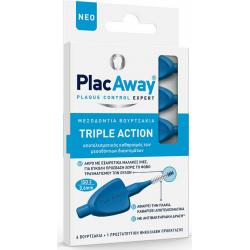 PlacAway Triple Action Μεσοδόντια Βουρτσάκια 0.6mm σε χρώμα Μπλε 6τμχ