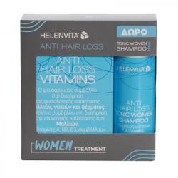 Helenvita Anti Hair Loss 60 κάψουλες + Τονωτικό Σαμπουάν Γυναικών 100ml