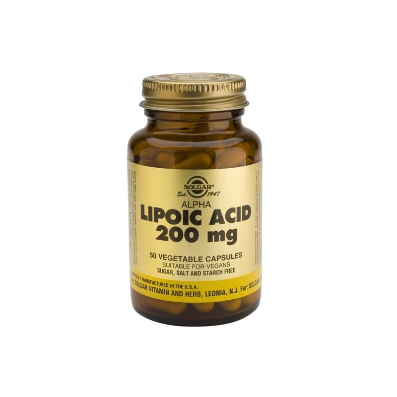 Solgar Alpha Lipoic Acid 200mg 50 κάψουλες