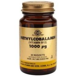 Solgar B12 1000mg Methylcobalamin 30 μασώμενα δισκία