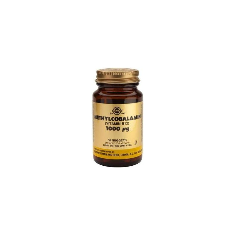 Solgar B 12 1000mg Methylcobalamin nuggets 30s