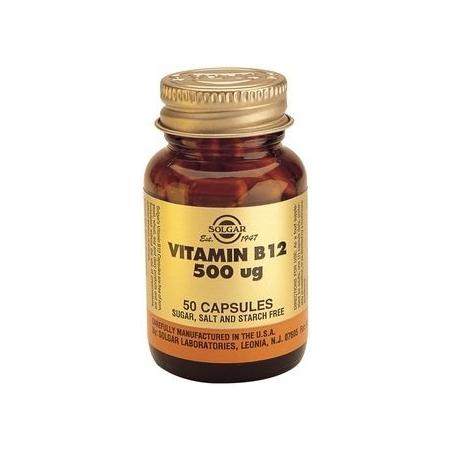 Solgar B12 500mcg 50 φυτικές κάψουλες