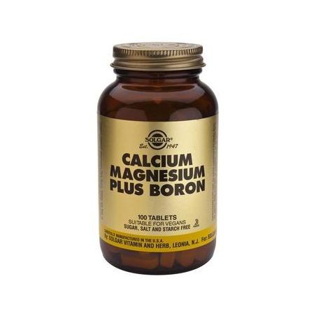 Solgar Calcium Magnesium Plus Boron 100 ταμπλέτες