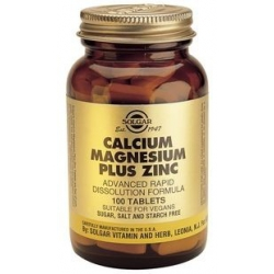 Solgar Calcium Magnesium Plus Zinc 100s