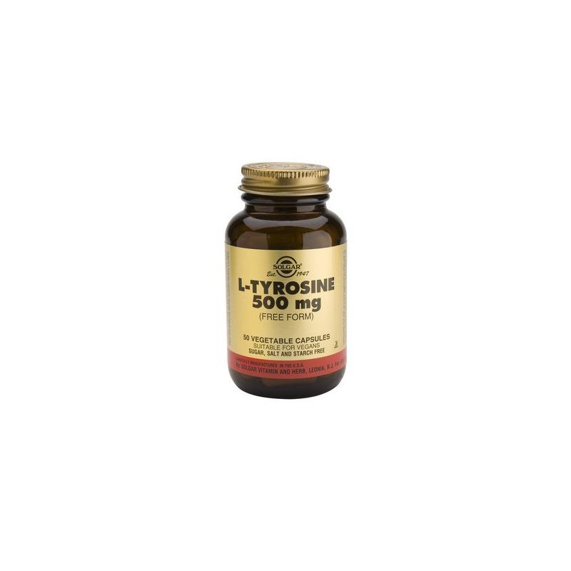 Solgar L-Tyrosine 500 mg 50 κάψουλες