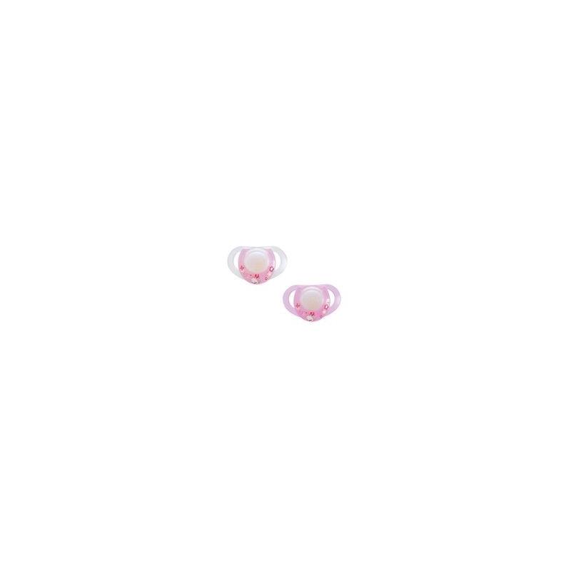 Chicco Physio Πιπίλα Σιλικόνης Με Κρίκο 0+Ροζ 2τμχ 8003670739548