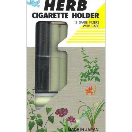 Vican Herb Cigarette Holder Black - Πίπα + 12 Φίλτρα