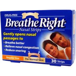 Breathe Right Ρινικές Ταινίες Μεσαίο Μέγεθος 30 ταινίες
