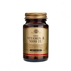 Solgar Vitamin A 5000iu Dry tabs 100 ταμπλέτες