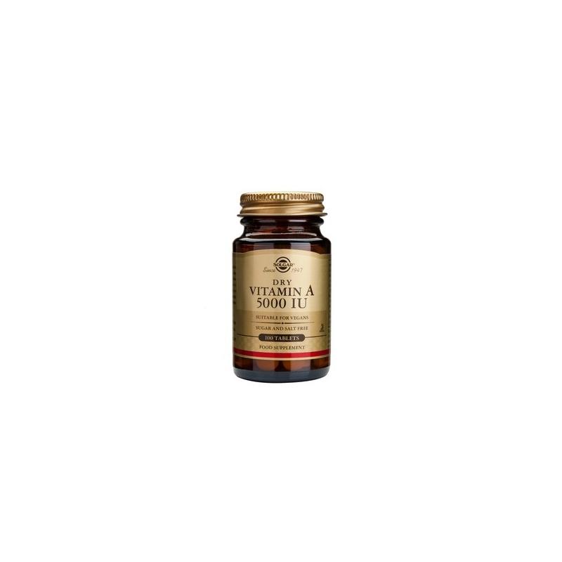 Solgar Vitamin A 5000iu Dry tabs 100's