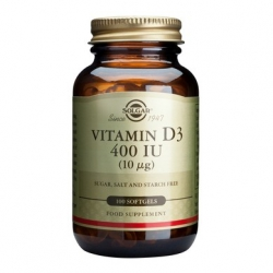 Solgar Vitamin D3 400iu 100 κάψουλες