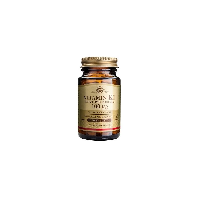 Solgar Vitamin K1 100μg tabs