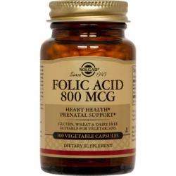 Solgar Folic Acid 800μg 100's
