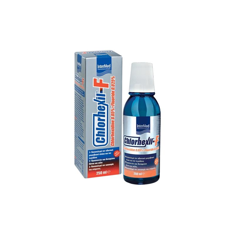 Intermed Chlorhexil-F Στοματικό Διάλυμα 250ml