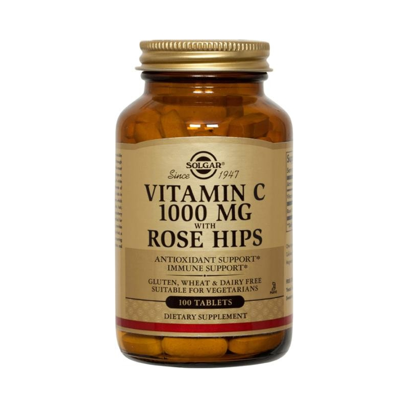 Solgar Vitamin C Rose Hips 1000mg 100 ταμπλέτες