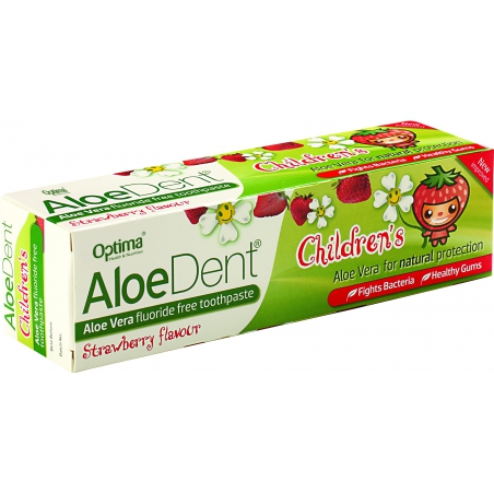 Optima Aloe Dent Strawberry Children's Toothpaste 50ml