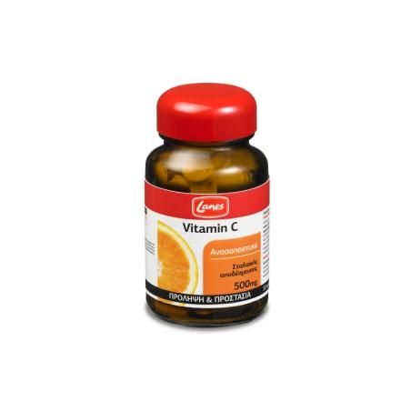 Lanes Vitamin C 500mg 30 ταμπλέτες