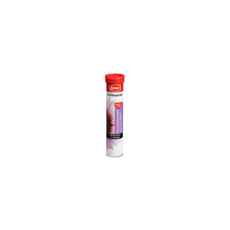 Lanes Echinacea με Βιταμίνη C 20 αναβράζοντα δισκία Μέλι-Λεμόνι