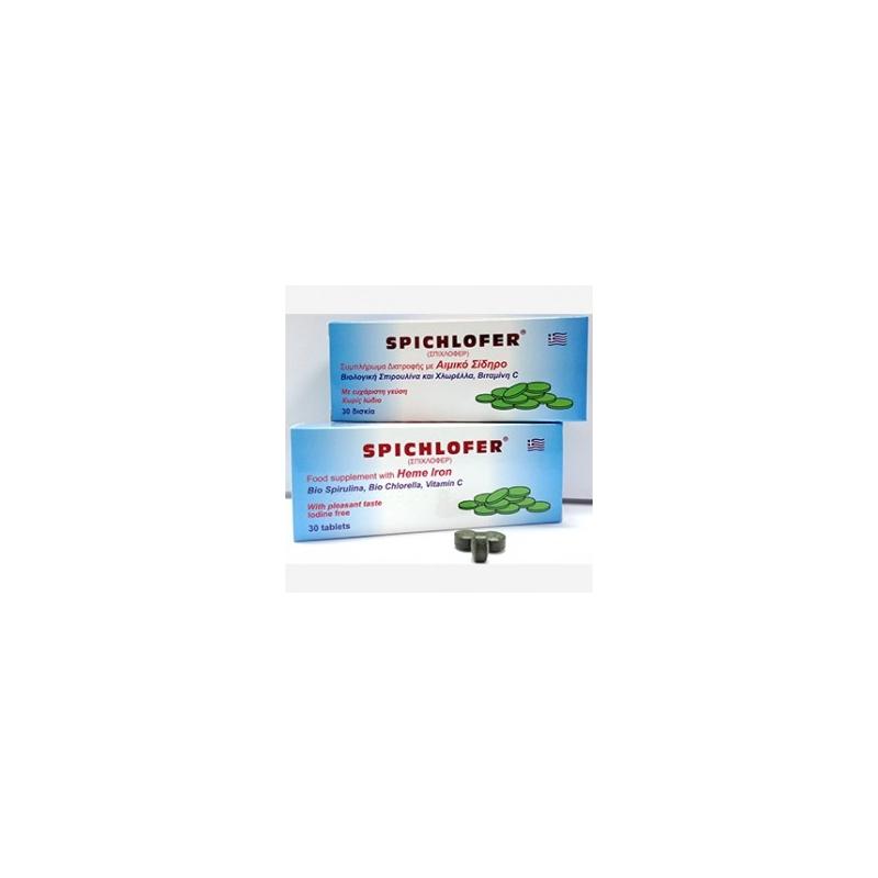 Medichrom Spichlofer Αιμικός Σίδηρος & Χλωρέλλα & Σπιρουλίνα 30 δισκία