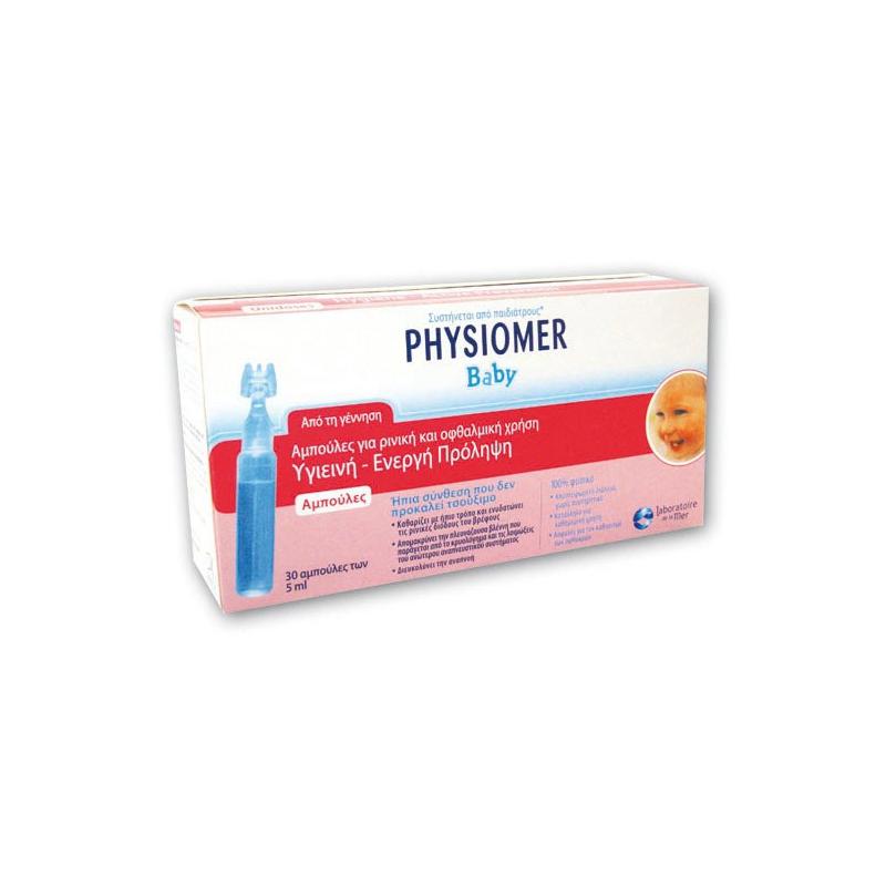 Physiomer Baby Αμπούλες Για Ρινική & Οφθαλμολογική Χρήση 30x5ml