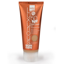 Intermed  Luxurious Sun Silk Cover Face Αντιηλιακή Με Χρώμα Natural Beige 50spf 75ml