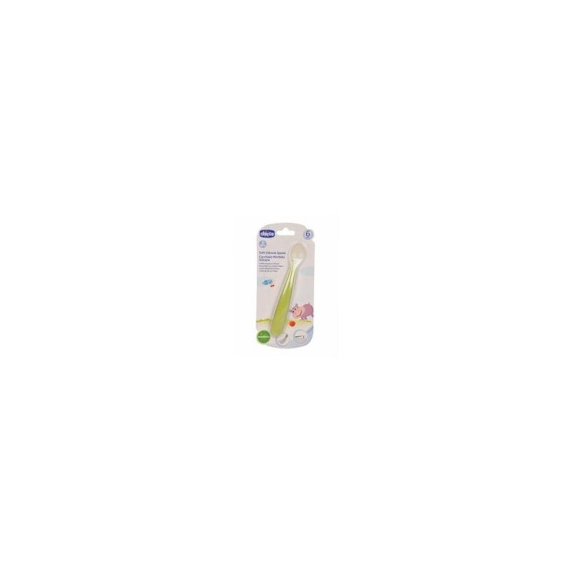 CHICCO Κουτάλι Σιλικόνης Soft 6m+, Πράσινο