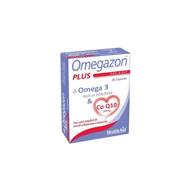 Helth Aid Omegazon PLUS (Ω3 & CoQ10) 30caps