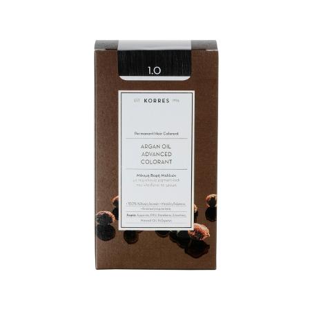 Korres Argan Oil Advanced Colorant 1.0 Μαύρο Φυσικό 50ml