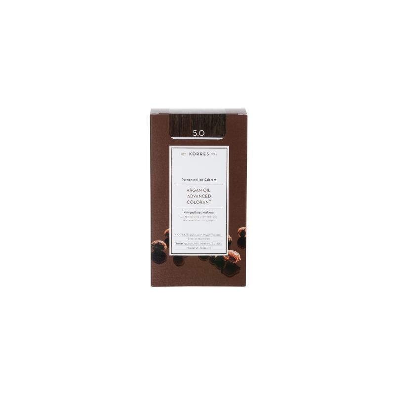 Korres Argan Oil Advanced Colorant 5.0 Καστανό Ανοιχτό Φυσικό 50ml