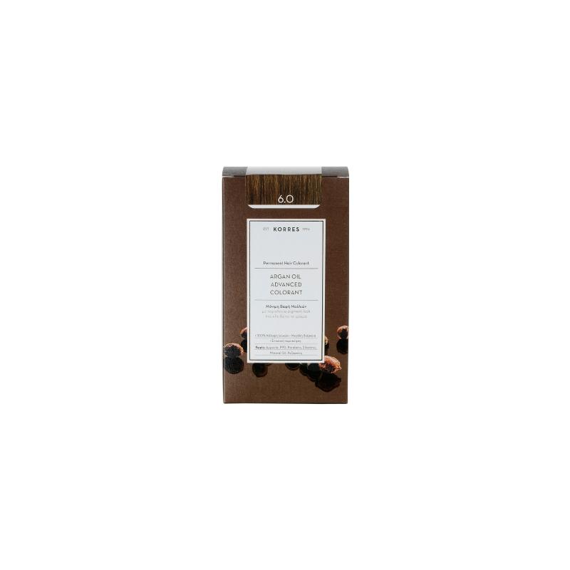 Korres Argan Oil Advanced Colorant 6.0 Ξανθό Σκούρο Φυσικό 50ml