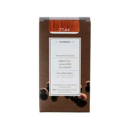 Korres Argan Oil Advanced Colorant 77.44 Ξανθό Έντονο Χάλκινο 50ml