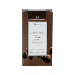 Korres Argan Oil Advanced Colorant 5.3 Καστανό Ανοιχτό Μελί  50ml