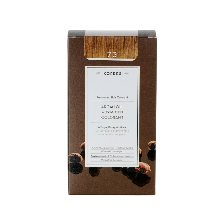 Korres Argan Oil Advanced Colorant 7.3 Ξανθό Μελί 50ml