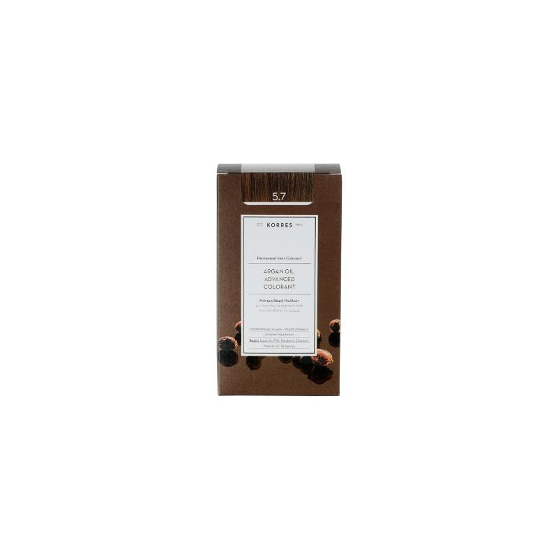 Korres Argan Oil Advanced Colorant 5.7 Σοκολατί 50ml