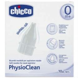 Chicco Physioclean Ανταλλακτικά Κιτ Αναρρόφησης Για Τη Μύτη 10τεμ