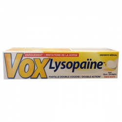 Vox Lysopaine Μειώνει την Βραχνάδα 18 παστίλιες