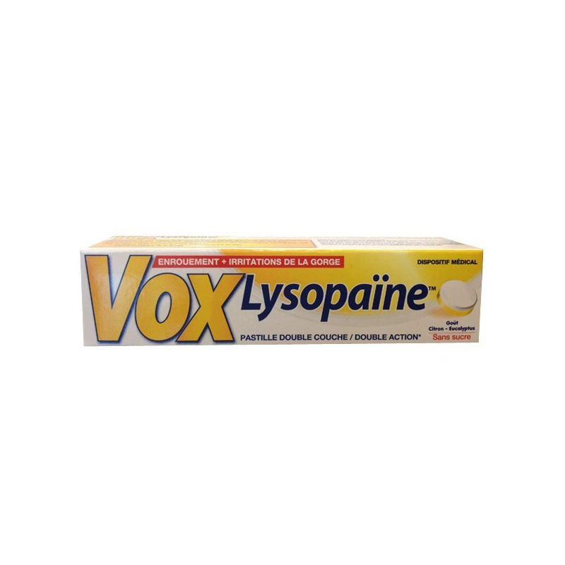 Vox Lysopaine Λεμόνι-Ευκάλυπτος 18 παστίλιες